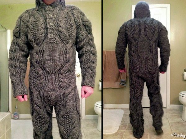 Life Dream Status A Cable Knit Sweater Onesie For Tommie