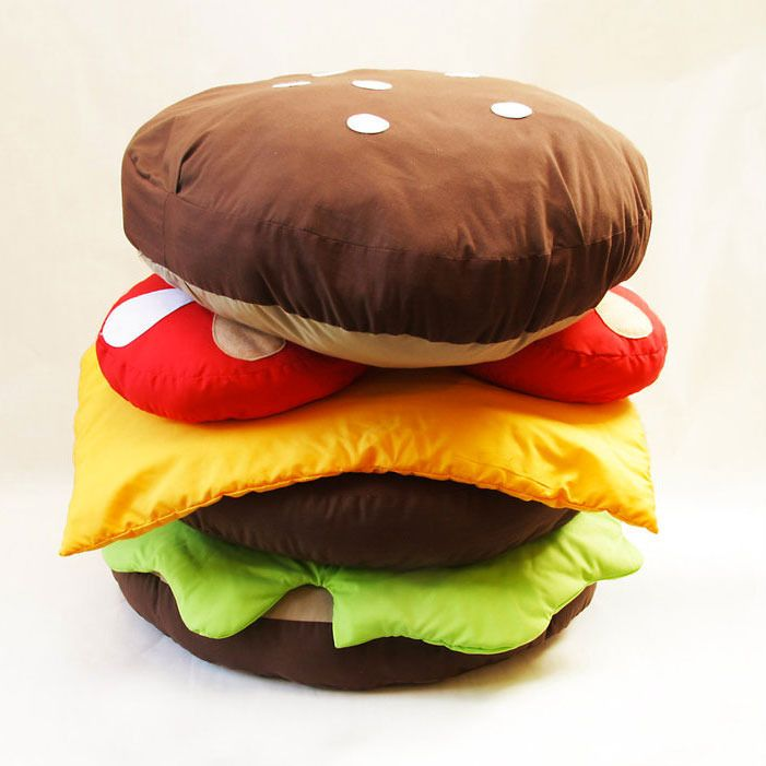 Gorgeous Hamburger Scatter Cushions By Gemma Patford Toys - Hamburger-scatter-cushions