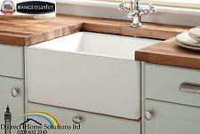 Belfast White Ceramic Kitchen Sink & Waste - FREE NEXT DAY DELIVERY