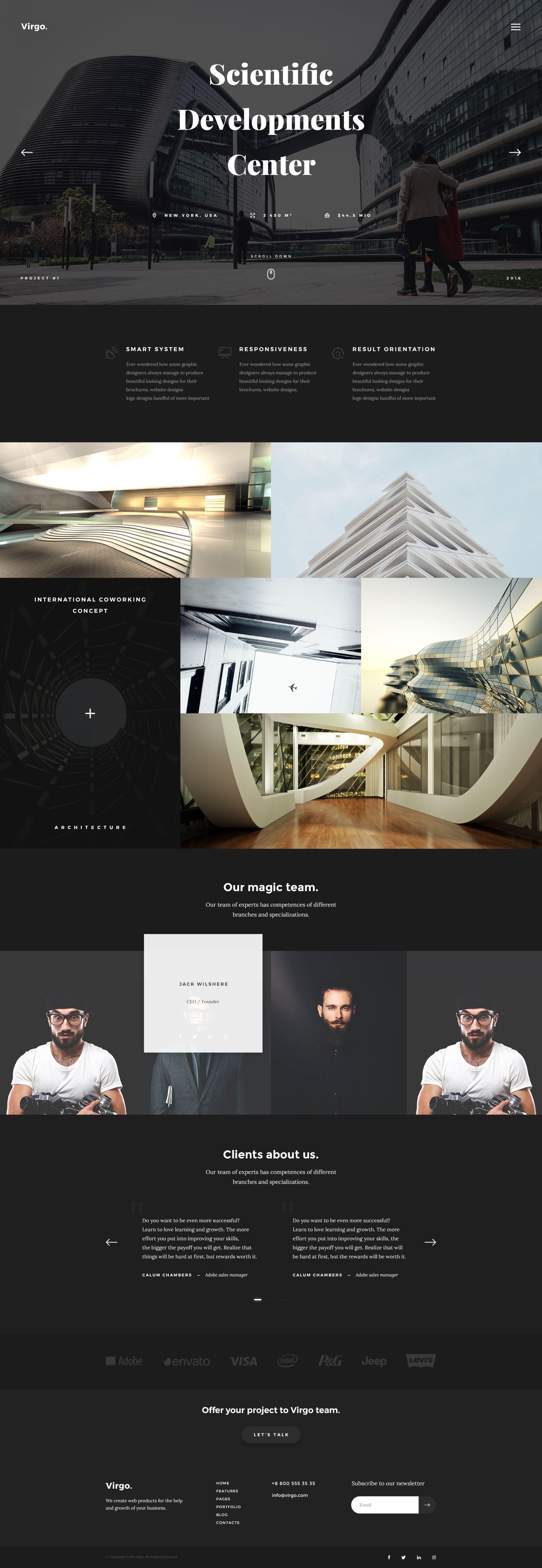 Virgo.Elegant PSD multipurpose web template Full /Live Preview ...