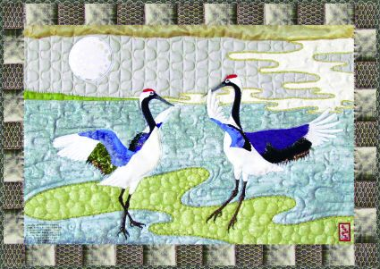 dancing cranes quilt pattern... @Taylor Howell this is much better ... : loon quilt pattern - Adamdwight.com