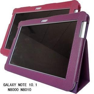 """PU Leather Samsung Galaxy Note 10.1"""" Cover Case Flip Stand 7 Colors"""