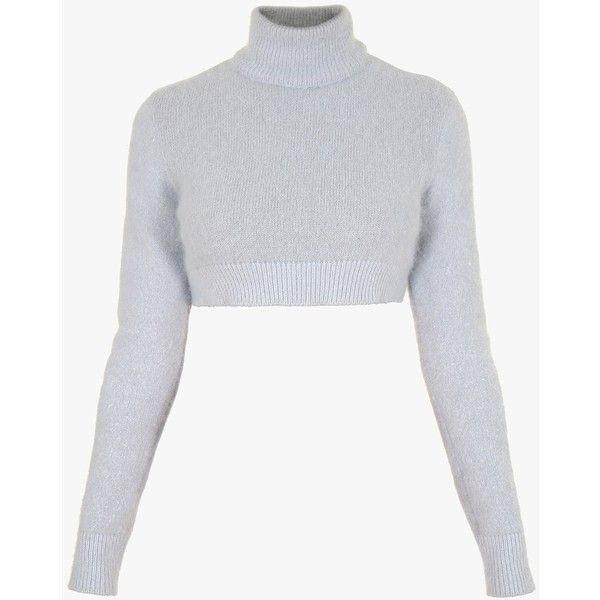 38a4c633c6a0d5 Angora cropped sweater | Women's knit tops | Balmain ($745) ❤ liked on  Polyvore featuring tops, sweaters, knit sweater, knit top, balmain, cut-out  crop ...