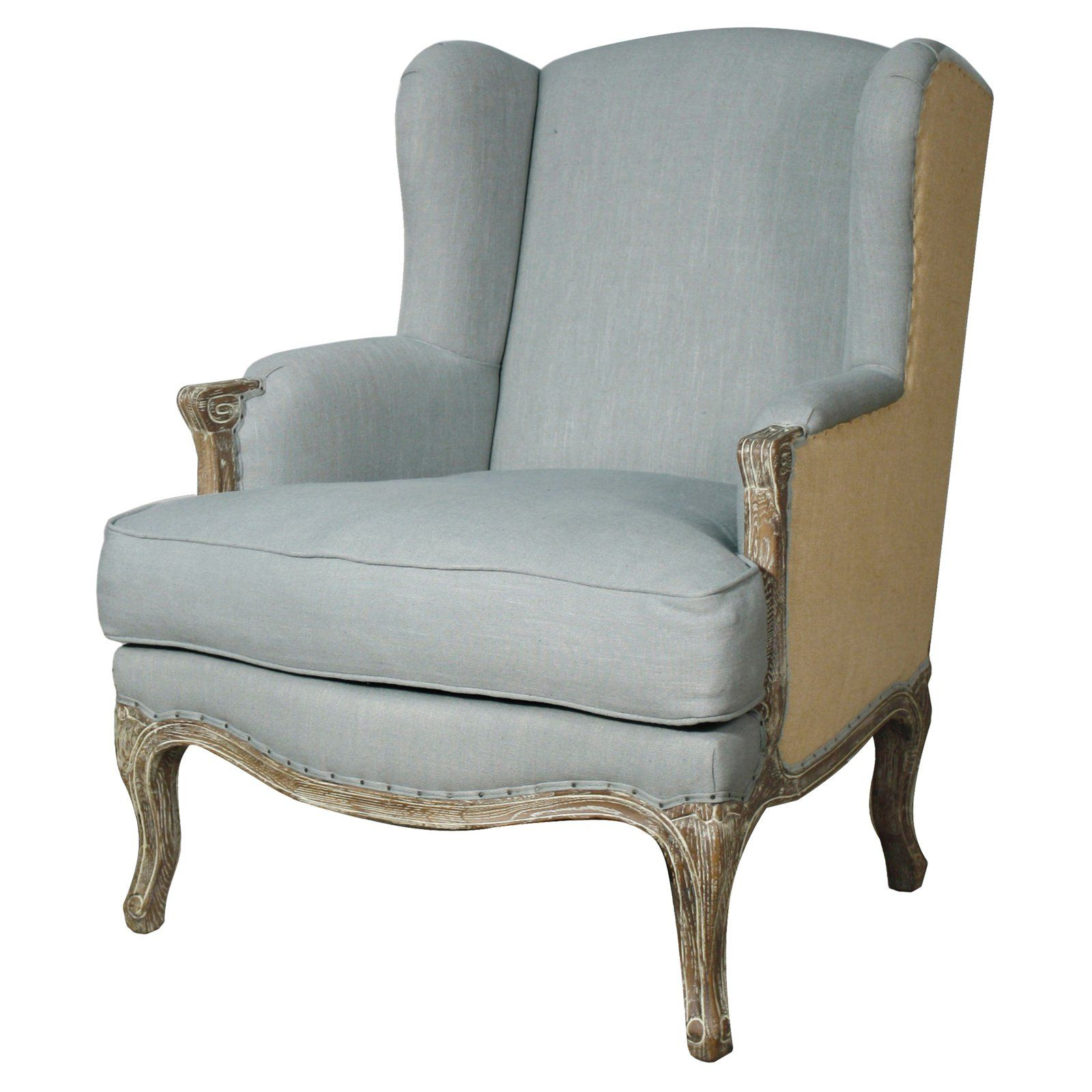 Best New Pacific Direct Inc Marie Wing Arm Accent Chair Soft 400 x 300