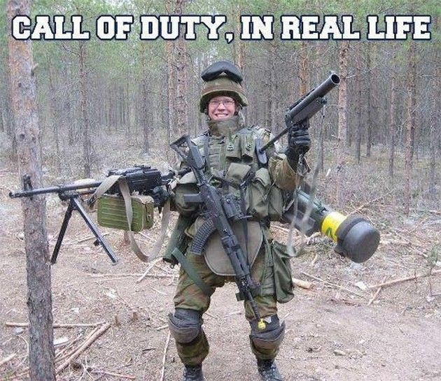 Call of Duty (17 Pics) | Made me laugh | Call of duty ... M1216 Real Life