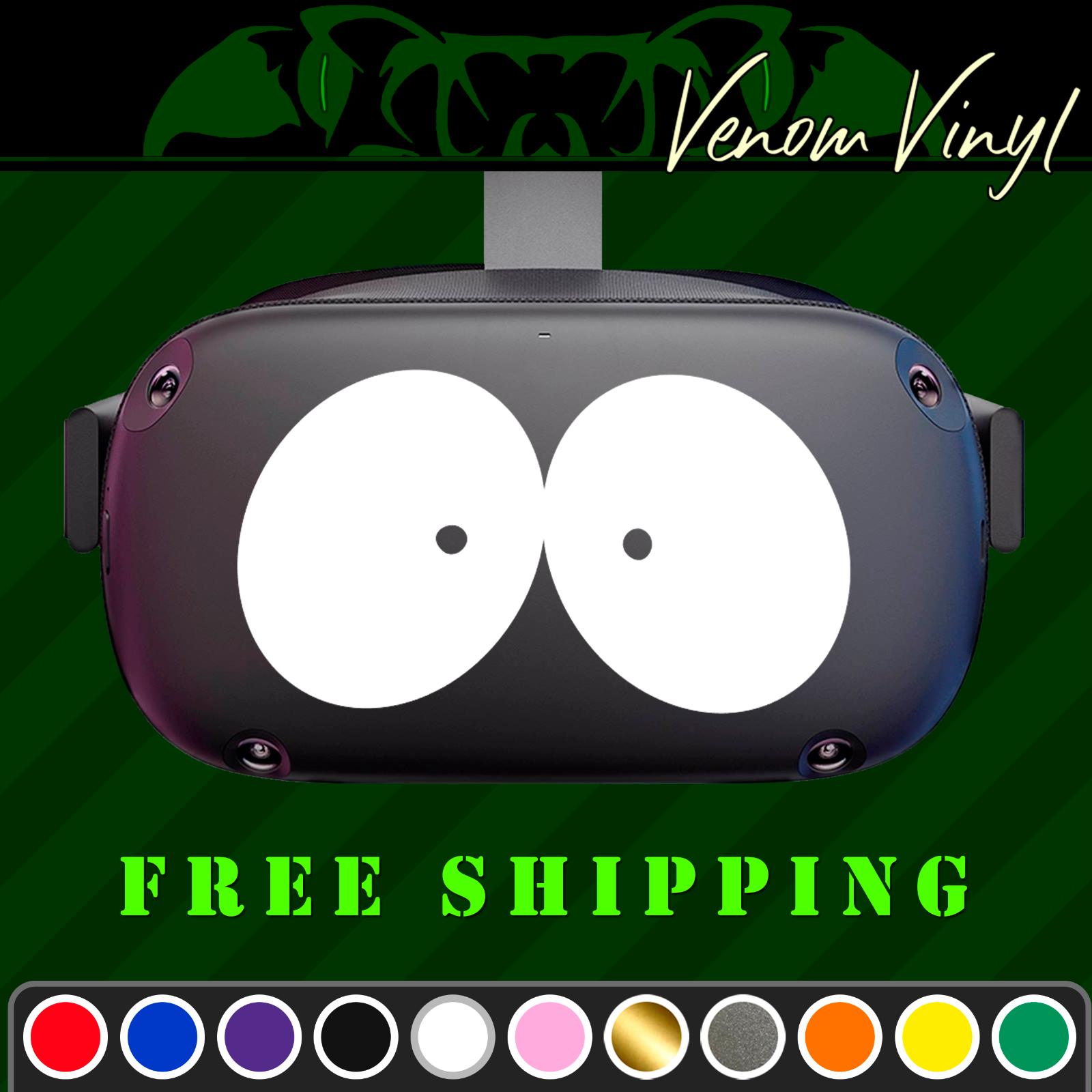 Cartoon Eyes Vinyl Decal Fits Oculus Quest Rift Psvr Vr Headsets Ebay In 2020 Funny Vinyl Decals Custom Vinyl Decal Vinyl Decals