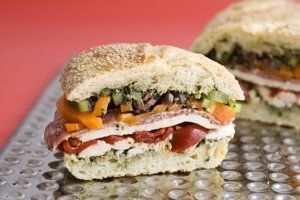 A do-ahead picnic sandwich that improves with age