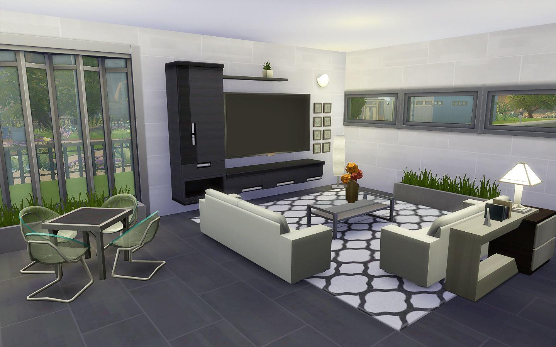 Modern House - The Sims 4 - Download   TS4 Sala de Estar   Pinterest