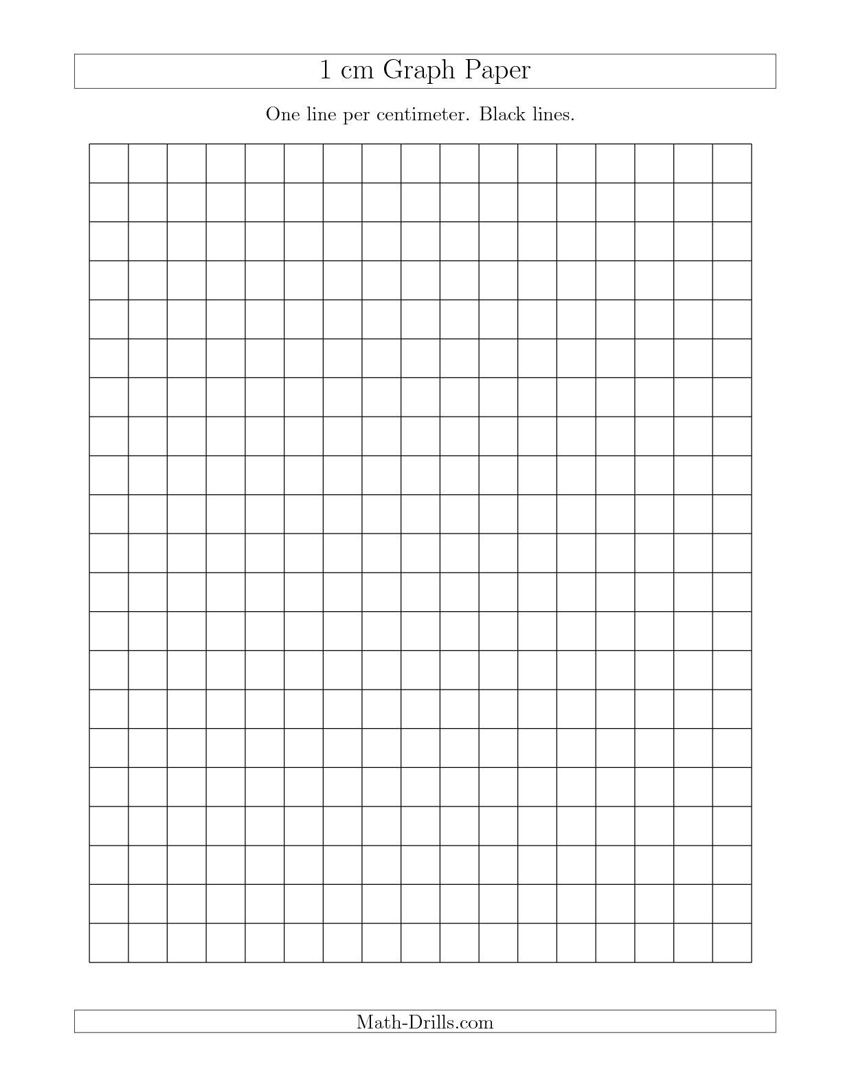 The 1 Cm Graph Paper With Black Lines A Math Worksheet
