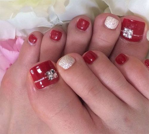 20 Best Merry Christmas Toe Nail Art Designs 2016 Holiday Nails 10