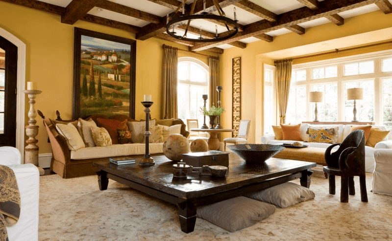 How To Decorate A Large Square Coffee Table Living Room Decor