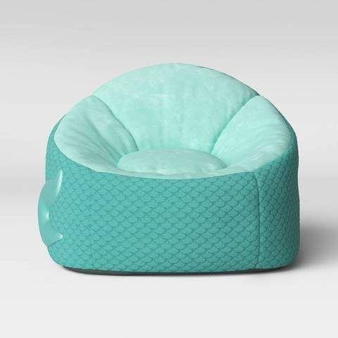 Pillowfort Kids' Character Bean Bag Chair Mermaid Aqua - Pillowfort