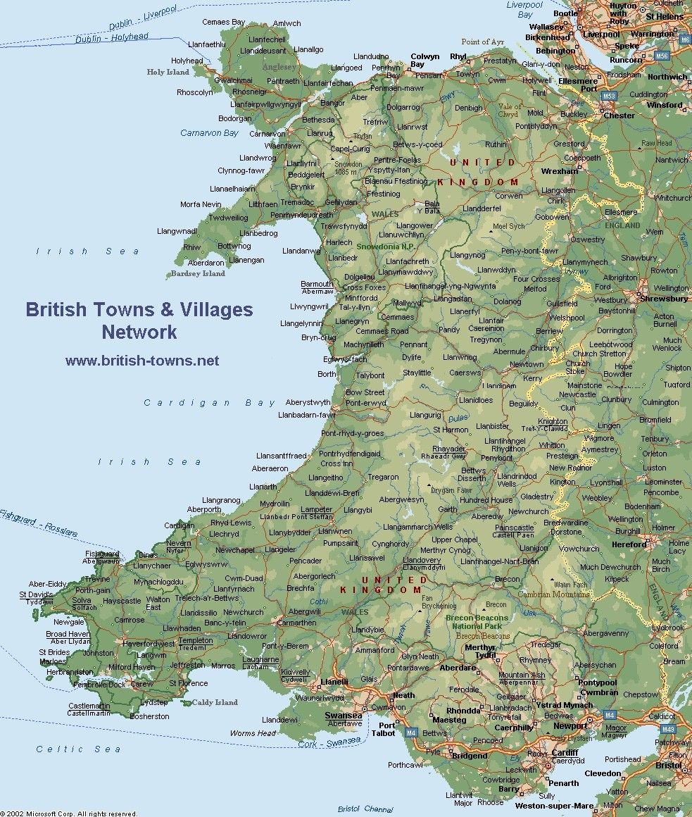 A topographic or physical of Wales Flags Maps Pinterest