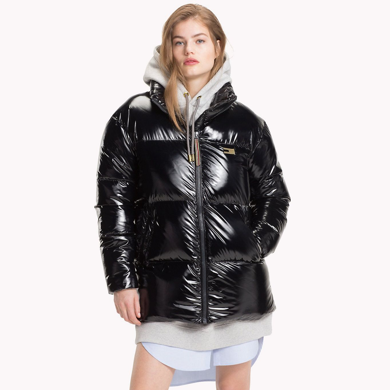 Tommy Hilfiger Tommy Icons Puffer Jacke Black Beauty Tommy Hilfiger Damen Main Image Puffer Jacket Women Tommy Hilfiger Jackets