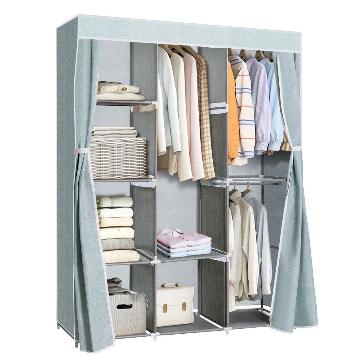 Portable Clothes Closet Storage Organizer Clothes Rack 36 95 Free Shippi Closet Clothes Storage Storage Closet Organization Closet Storage Systems