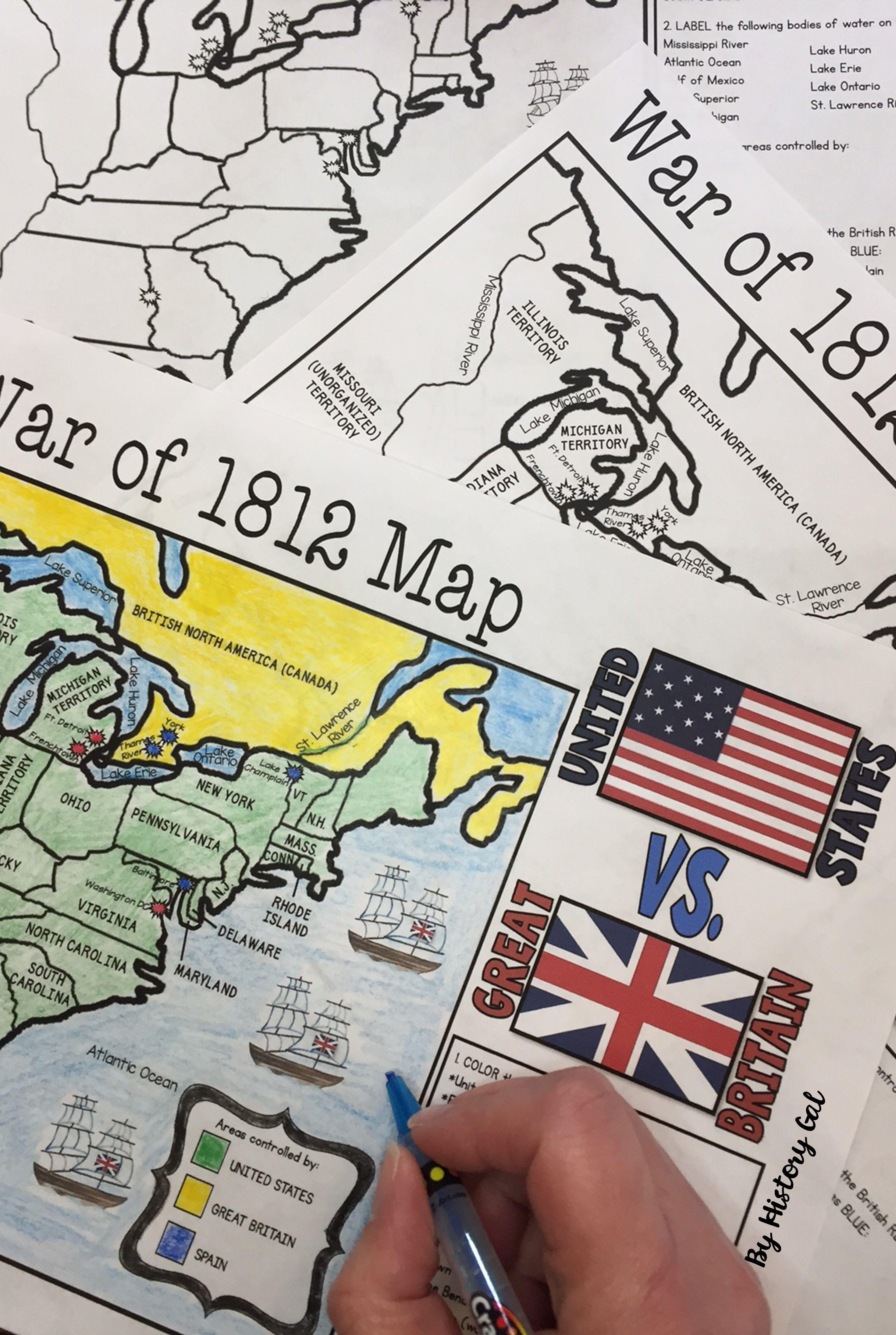Civil War Map Teaching History Map Activities Social Studies