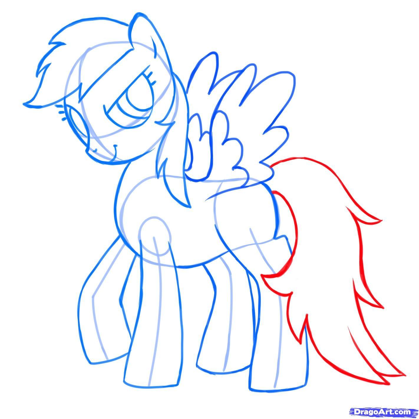 how to draw rainbow dash, my little pony friendship is magic step 8 ...