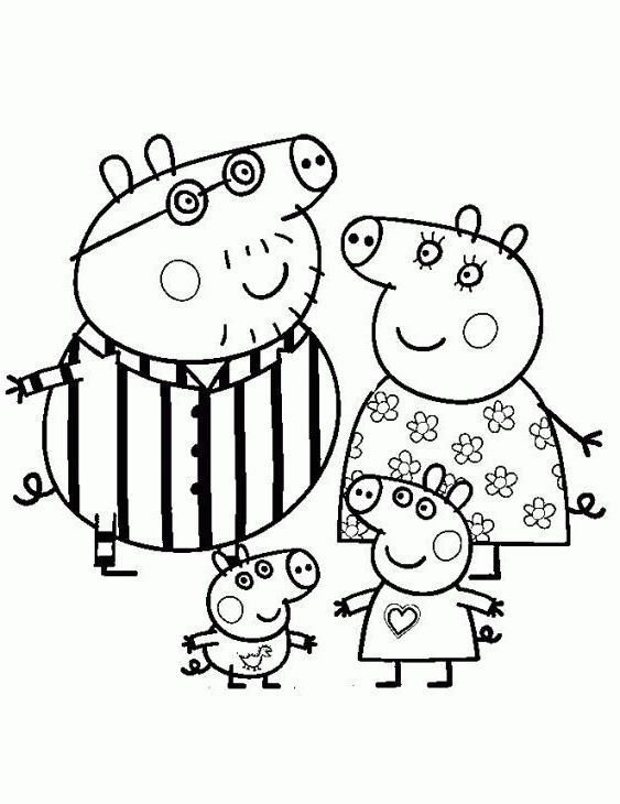 Nick Jr Coloring Peppa Pig Coloring Pages Peppa Pig Colouring Christmas Present Coloring Pages