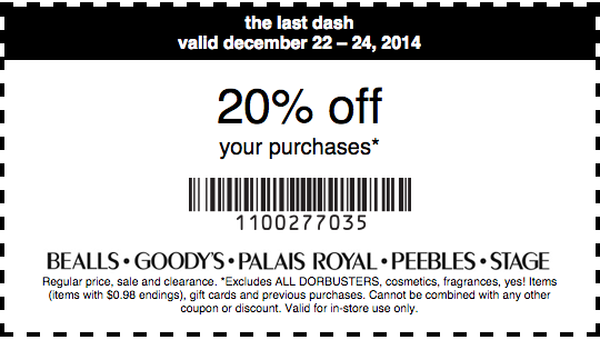 graphic regarding Palais Royal Printable Coupons referred to as Palais Royal Printable Coupon: Purchase 20% off your acquire