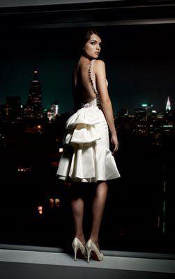 A Backless Short Melissa Sweet Wedding Gown