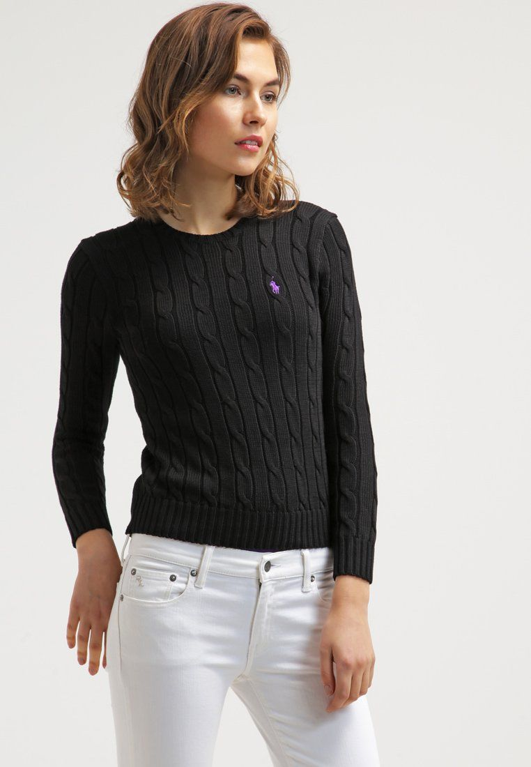 Polo Ralph Lauren JULIANNA Pullover polo black prix promo Pull Femme  Zalando 130.00 € 3a16031384d