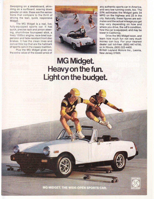 Pin by B D on Les appréciables | Mg midget, Car ads