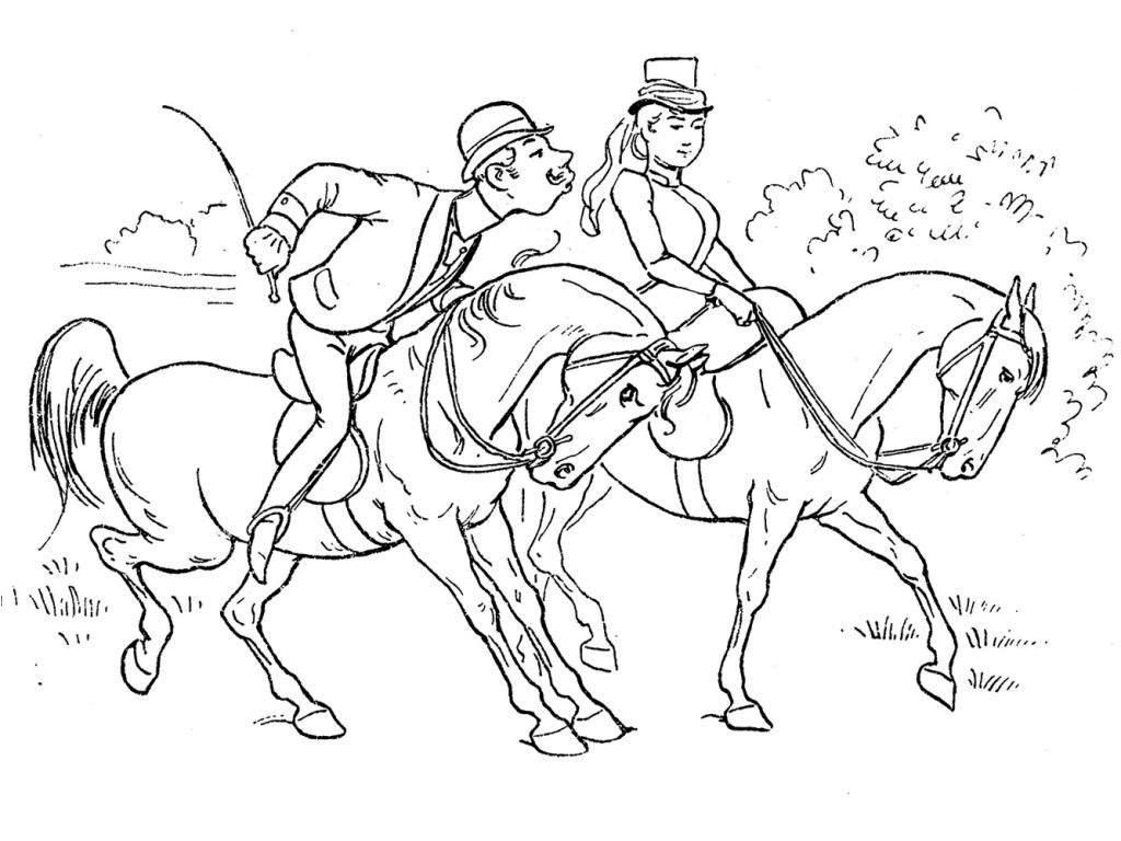 Horse Coloring Pages Print | Color: Horses, Donkeys, Mules, and Tack ...