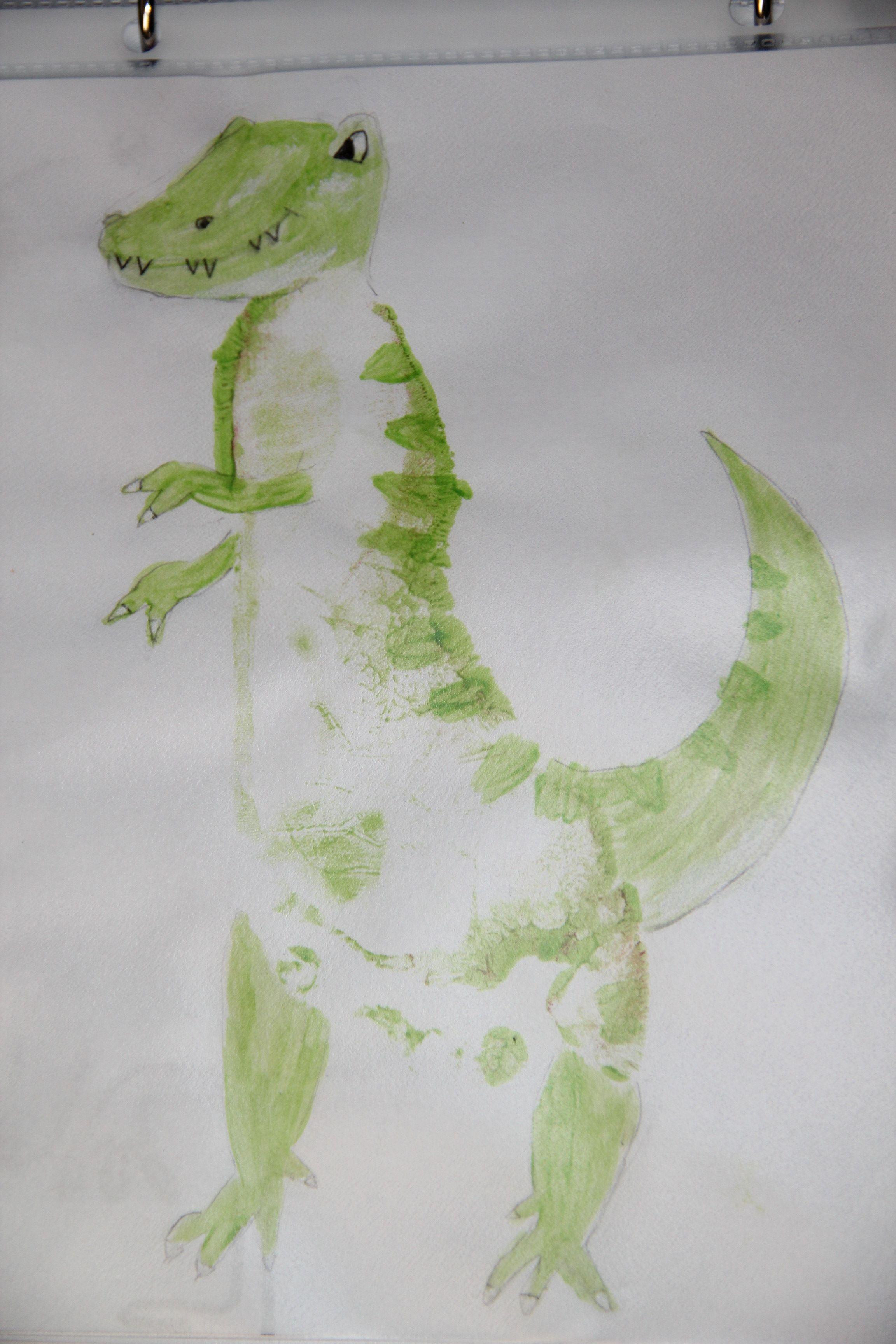 Diy Footprint Dinosaur Craft For Kids Or Is It An