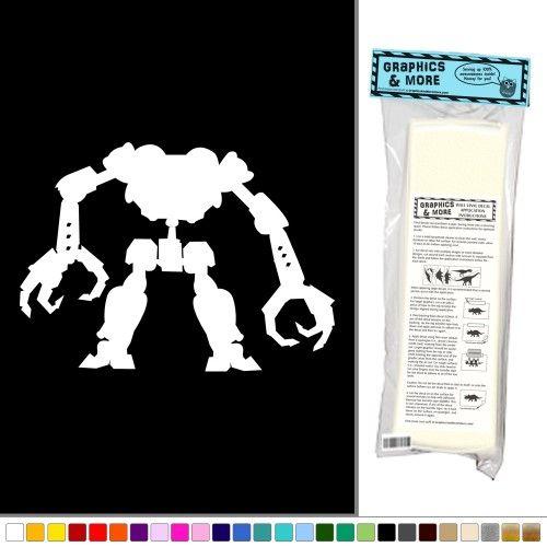 Two Claws Robot Headless Wall Vinyl Art, Vinyl Color
