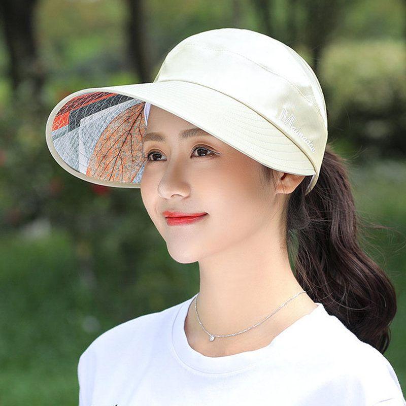 0a02717cd01de9 Womens Summer Outdoor Anti-UV Foldable Baseball Cap Beach Sunscreen  Hollowed-out Top Sun Hat