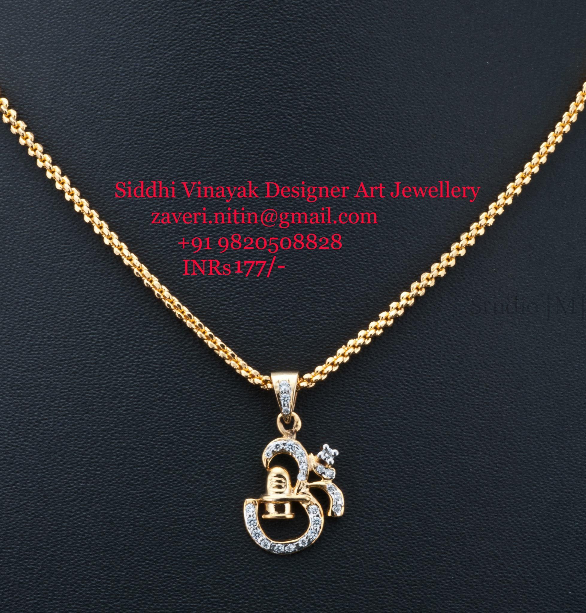 Exclusive goldplated pendant with american diamondscz divine