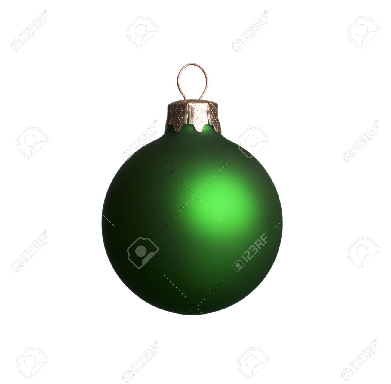 Green Christmas Ornament Isolated On A White Background. Stock ...