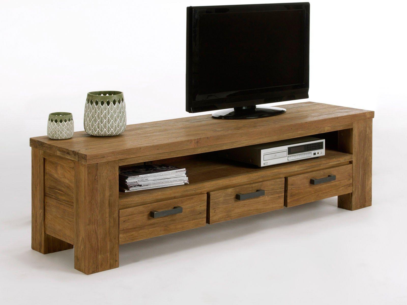 le meuble tv bas en bois massif de la