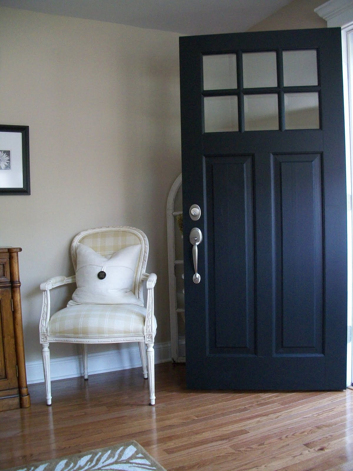 Dark blue front doors - Benjamin Moore S Aura Exterior In Black Low Lustre