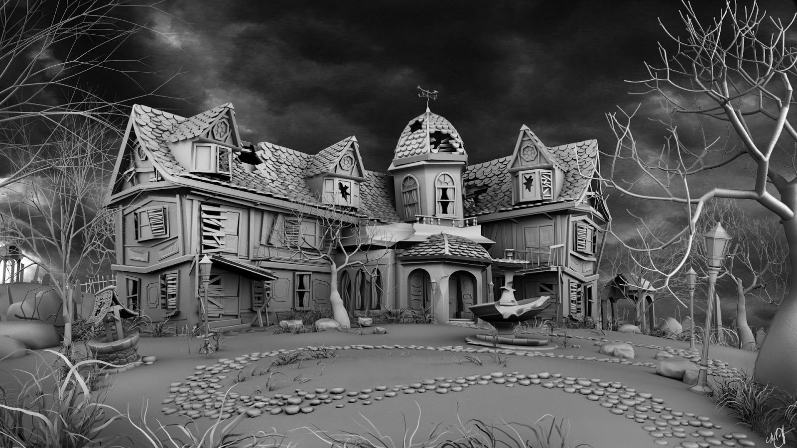 Haunted House model Haunted house pictures, Haunted