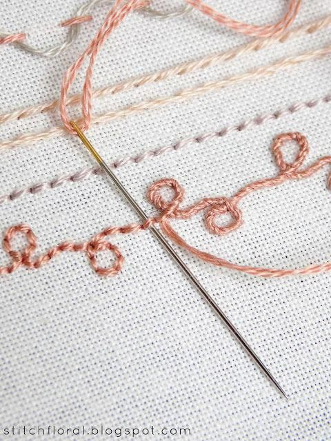 Line stitches and their variations: sampler ...