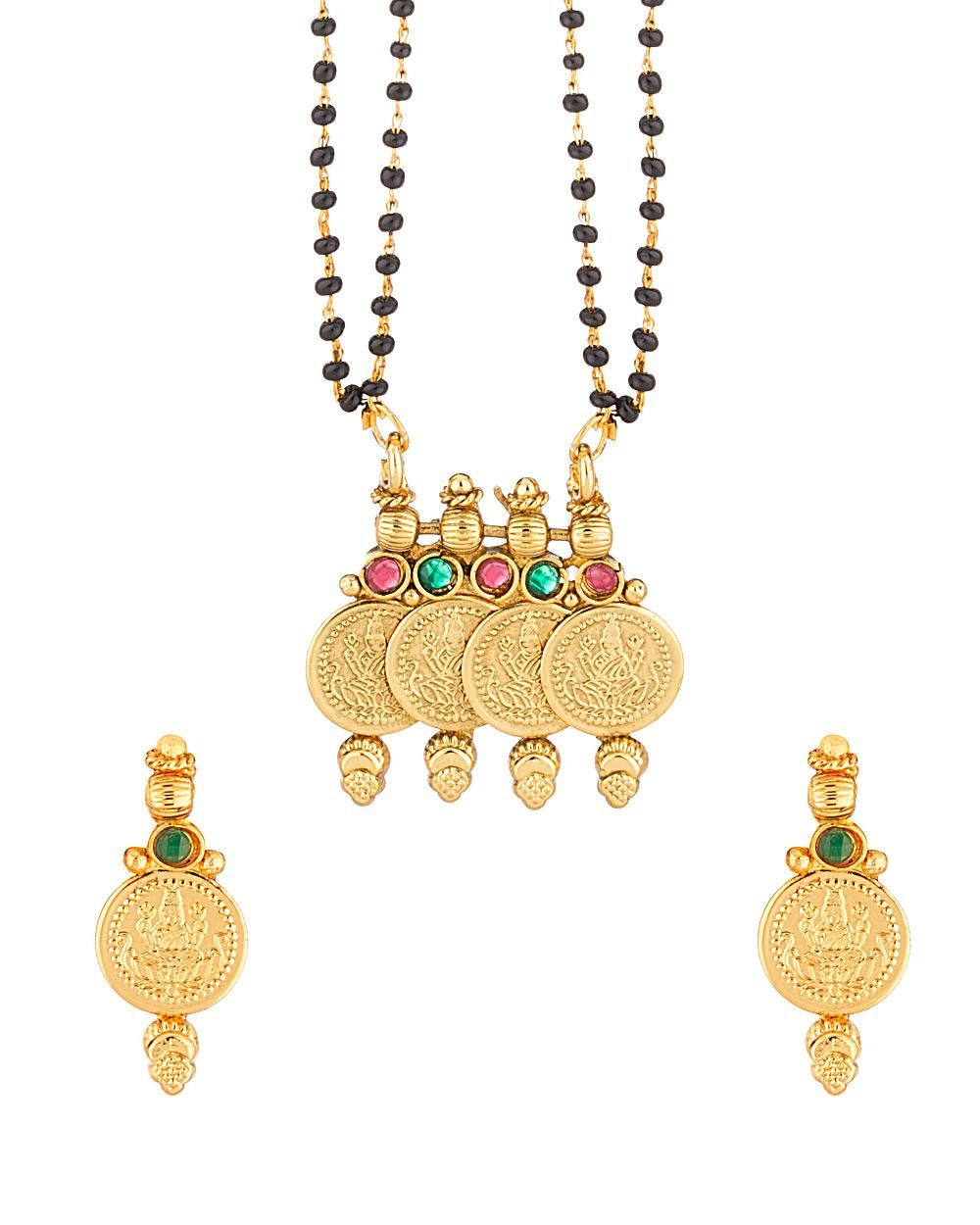 aa85a482c Gold Toned Religious Design Mangalsutra Set in 2019 | Mangalsutras ...