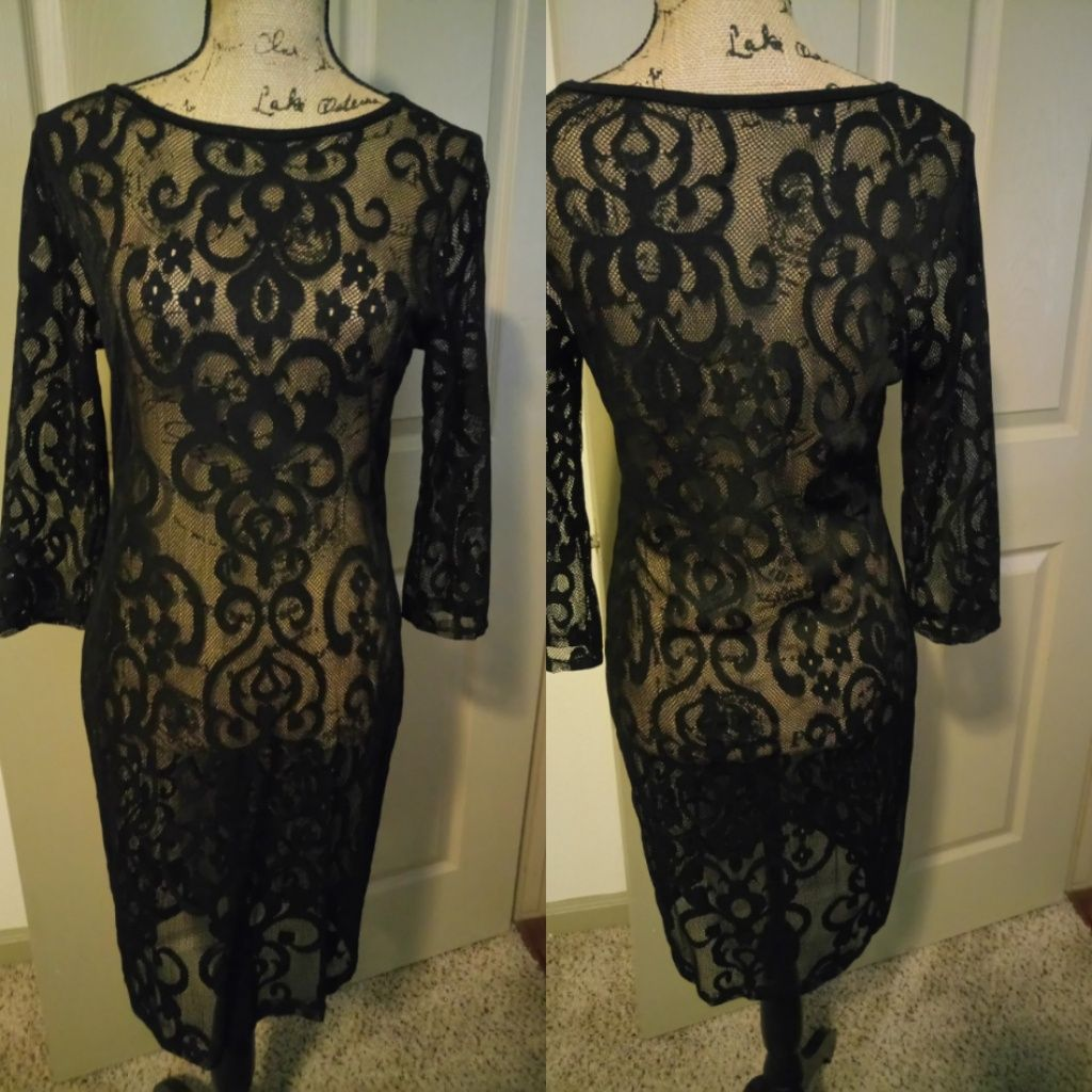 Black see through dress sheer dress and products