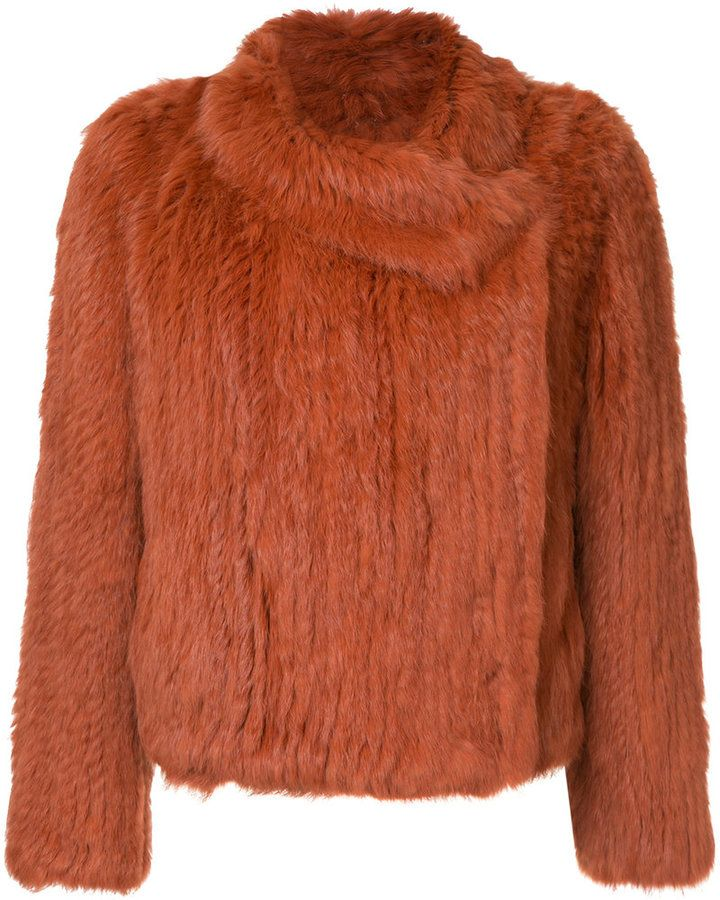 ed398df36f0e Meteo By Yves Salomon fur wrap front jacket | Products | Fur jacket ...