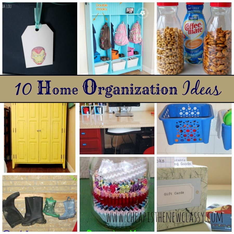 10 Home #DIY #Organization Ideas For A Clutter Free Life | Cheap Is The New Classy