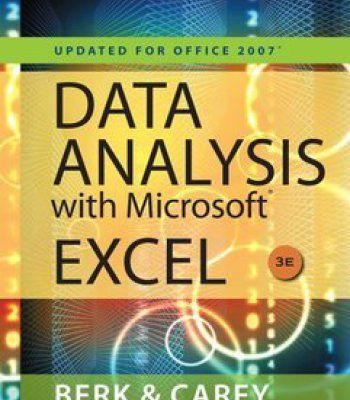 Data Analysis With Microsoft Excel Rd Edition Pdf  Software