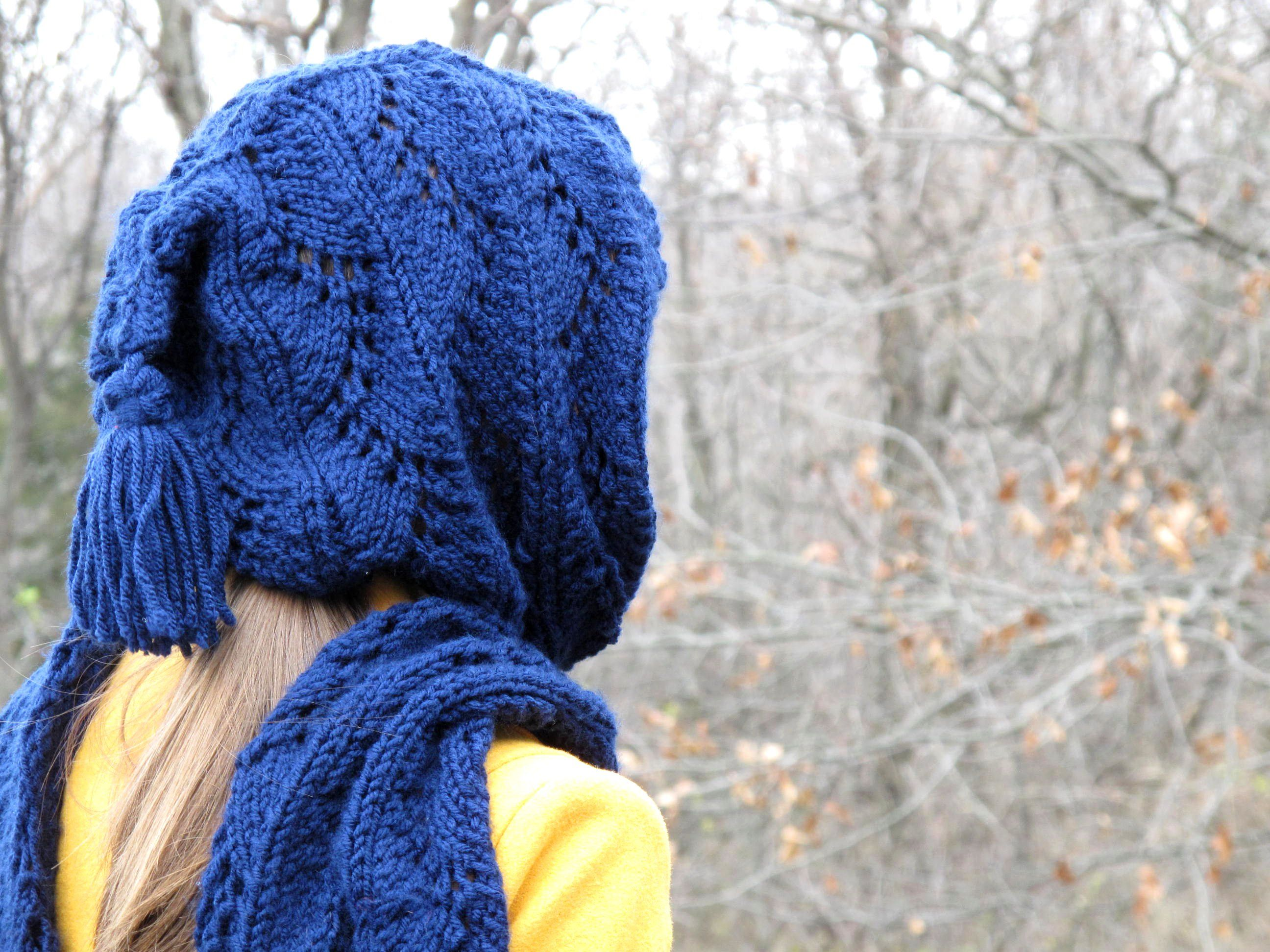 Stylish Hooded Scarf Free Knitting Pattern   Hooded scarf, Knitting ...