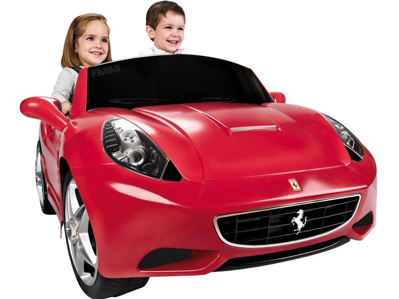 ferrari california 12v 2 seat ride on car in red
