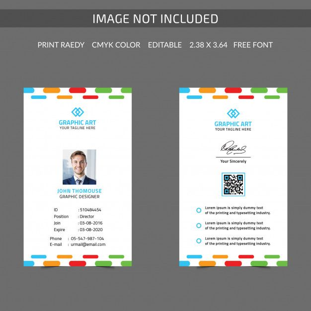 Colorful Id Card (With Images)