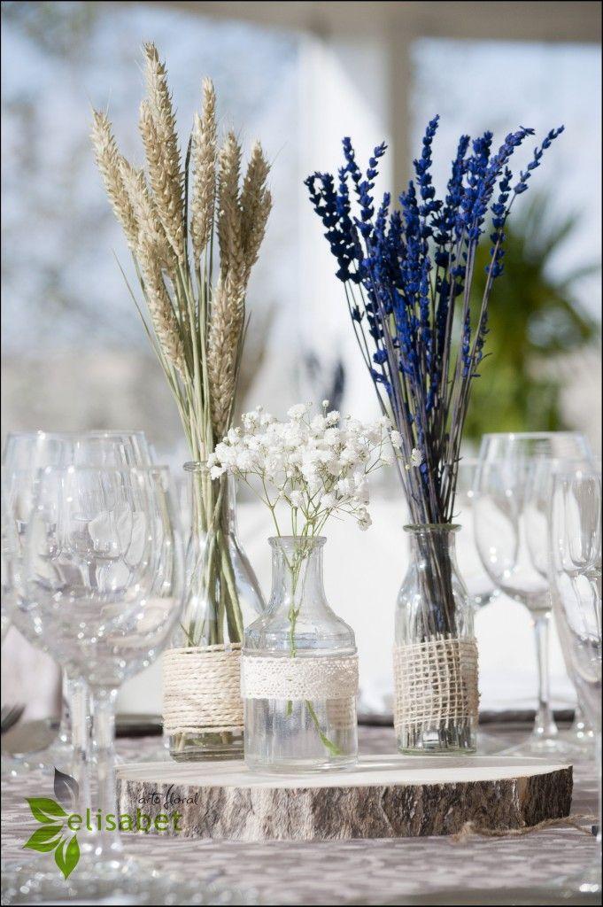 Boda silvestre, trigo y lavanda   Elisabet Arte Floral Blog is part of Wedding decorations - Cada vez están más de moda los ramos de novia con flores silvestres  Nosotros usamos trigo, lavanda y paniculata para decorar una boda romántica y muy elegante