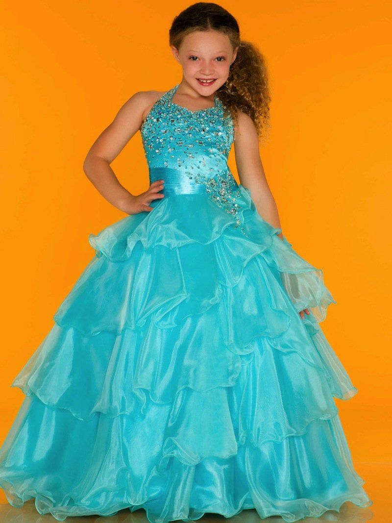 Child princess dress flower girl formal dress wedding dress ...