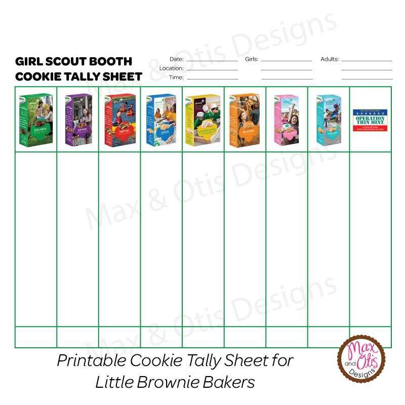 Image result for girl scout volunteer sign in sheets Cookies