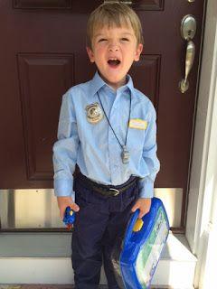 e7050f5efa233 Easy DIY Kids Cop Costume | Halloween | Police officer halloween ...