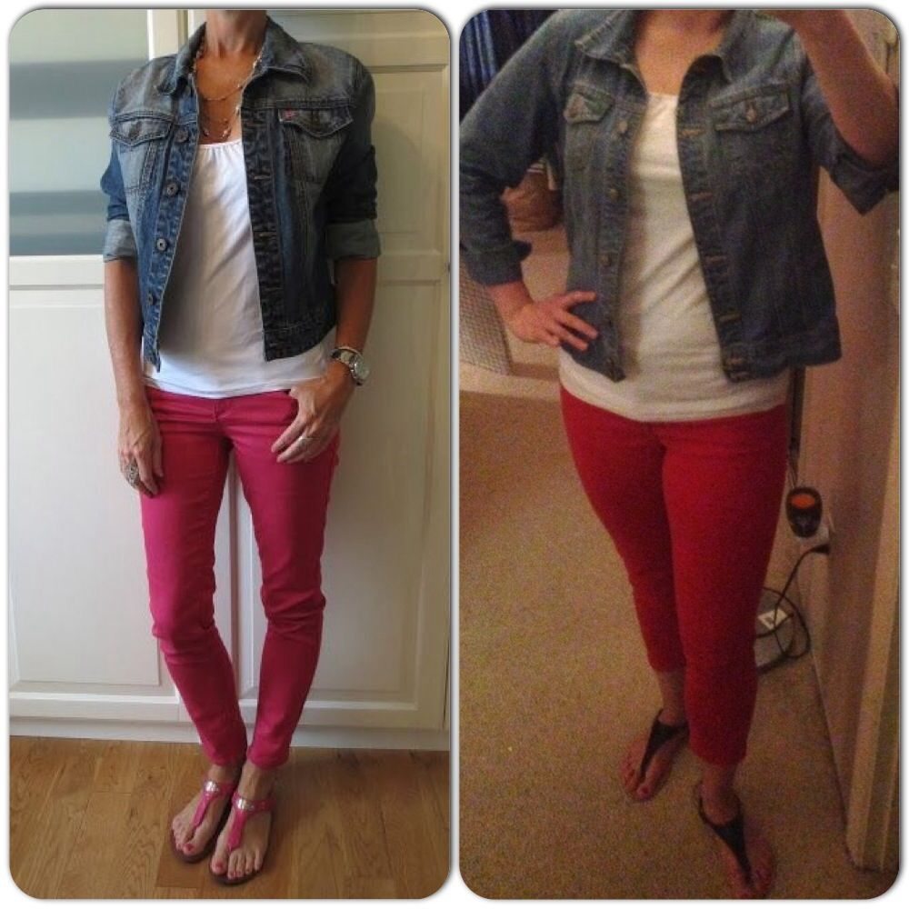 Jean Jacket Old Navy White Top Target Red Jeans Gap Sandals Ross