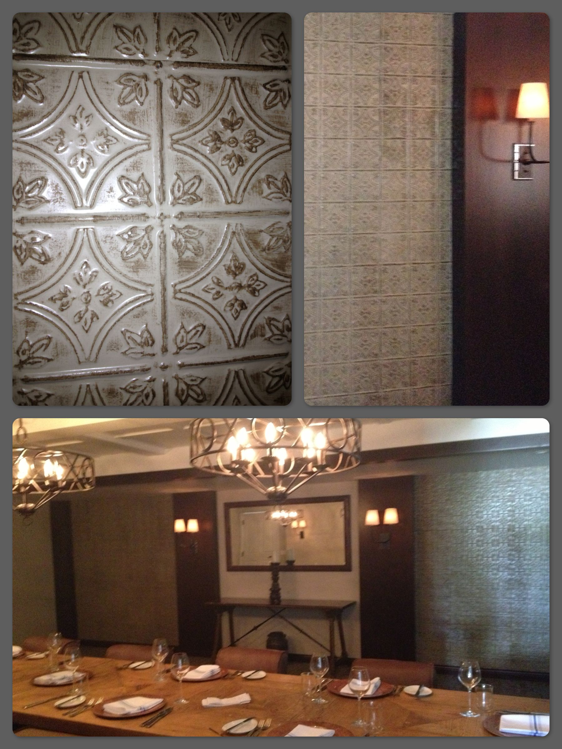 Decorative Tiles For Wall The Inn At Rancho Santa Fe Faux Tin Decorative Tile Walls  For